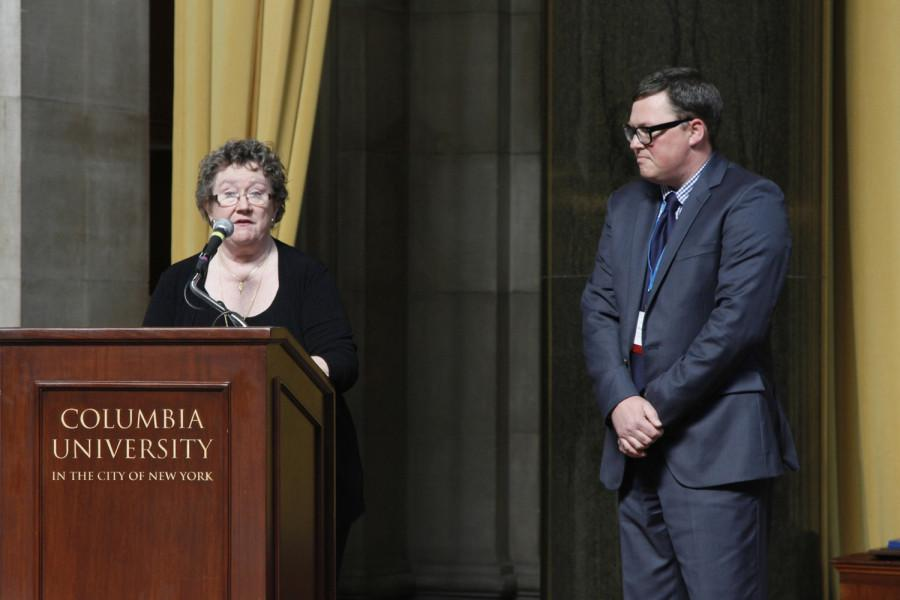 Chris Waugaman is a 2014 recipient of the CSPA Gold Key Award. He received his award at the 2014 CSPA spring convention advisers' awards luncheon on March 21, 2014 at Columbia University's Low Rotunda.