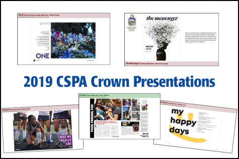 The Feather staff at CSPA's 93rd Convention create session recap video